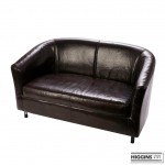 2 Seater Tub Sofa Brown