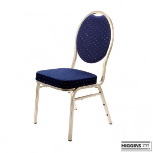 Banqueting Chair Steel Frame Blue