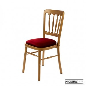 Goodwood Chair Gold with Red Pad
