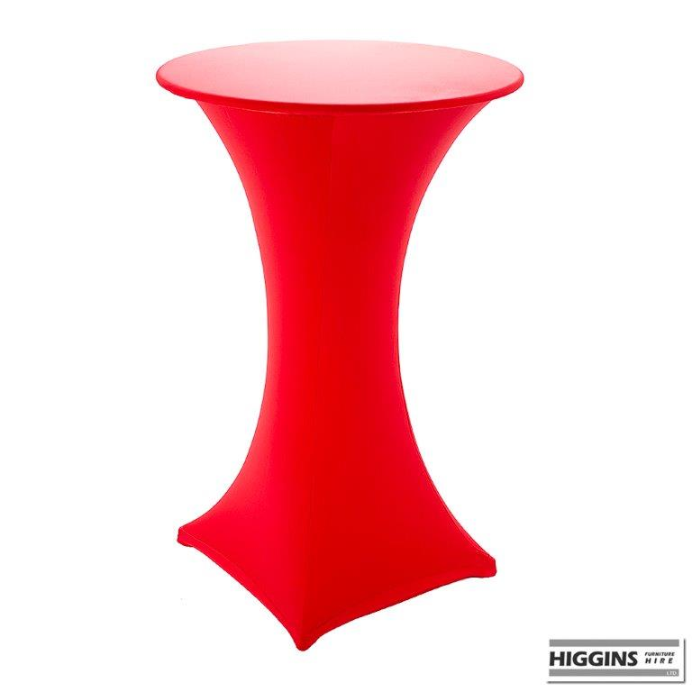Poseur Pod Table covered with Spandex 14 colours  : Spandex Red from higgins.ie size 768 x 768 jpeg 23kB