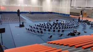 1,500 Linking Folding Chairs for the audience plus 120 Padded Banqueting Chairs for the Orchestra