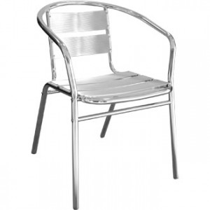 aluminium bistro chair