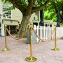 Gold Stanchion Posts with Gold Ropes Outdoor