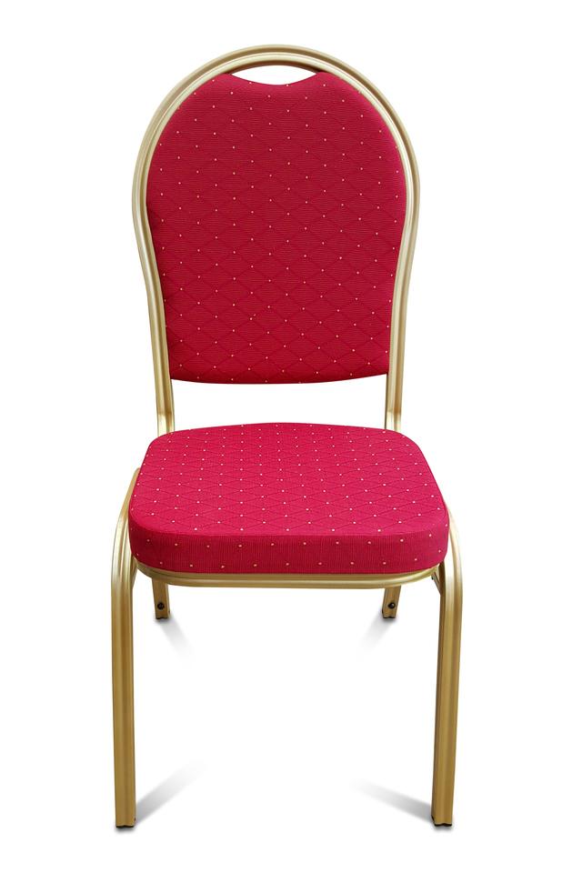 Banqueting Chair Steel Frame Red Higgins Ie