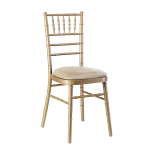 Chiavari Chair Gold Ivory Pad